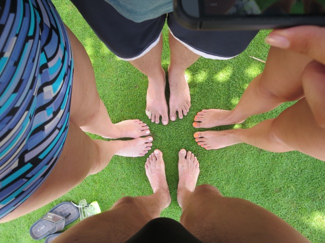 Grounding your feet, Oahu, 2015
