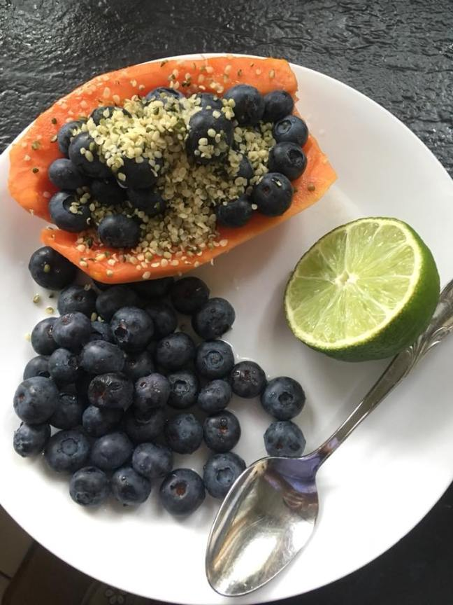 Papaya boat detox breakfast Jocelyn